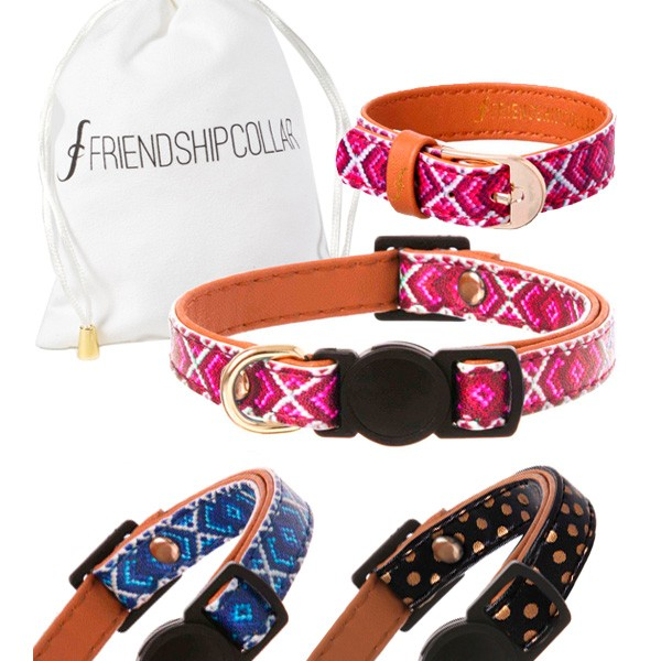 FriendshipCollar veganes Halsband plus Armband im Cat & You Partnerlook