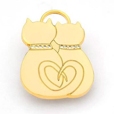 Katzenhalsband-Anhänger von Hamish McBeth in Silber und Gold