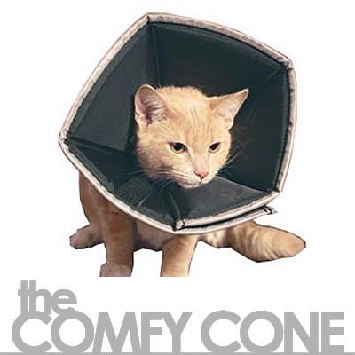 Comfy Cone - weicher Halskragen-Trichter für Katzen