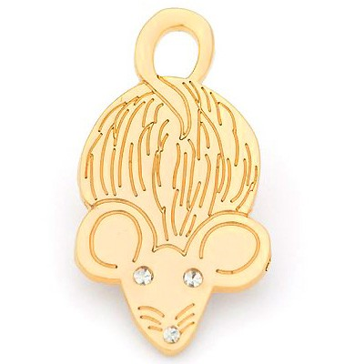 Hamish McBeth-Mouse - silberne & goldene Katzenhalsband-Anhänger