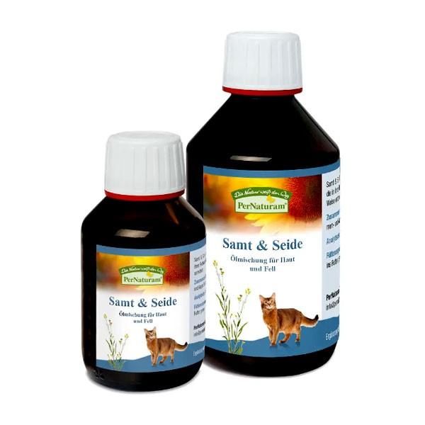 Samt & Seide Öl-Mischung von PerNaturam für Haut und Fell deiner Katze