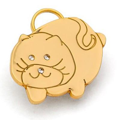 Fat Cat: Katzenhalsband-Anhänger von Hamish McBeth