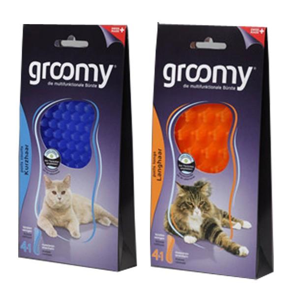 Groomy Multifunktionsbürste für alle Fell-Längen von Katzen