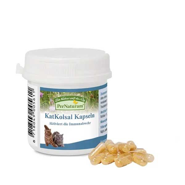 KatKolsal Kapseln für Katzen reiner Kolostrum-Extrakt von PerNaturam