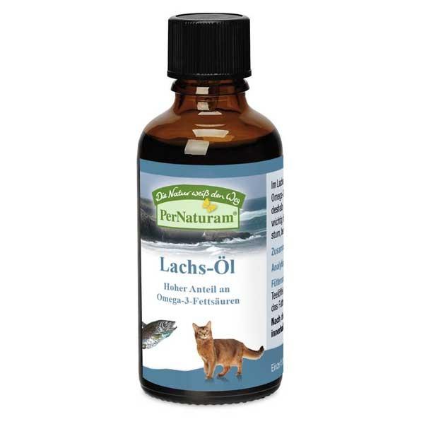 Lachs-Öl von PerNaturam mit gesunden Omega-3-Fettsäuren für deine Katze